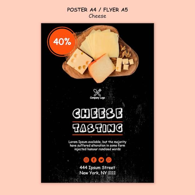 チーズテイスティングポスタースタイル 無料 Psd