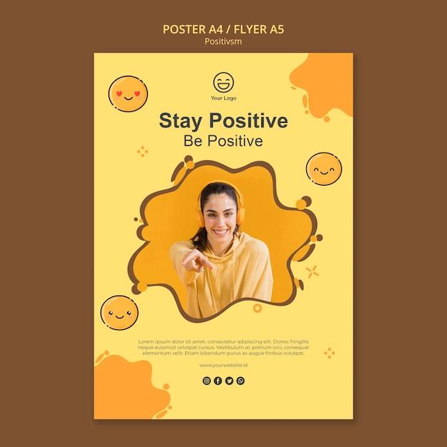 Шаблон постера с положительным результатом Бесплатные Psd
