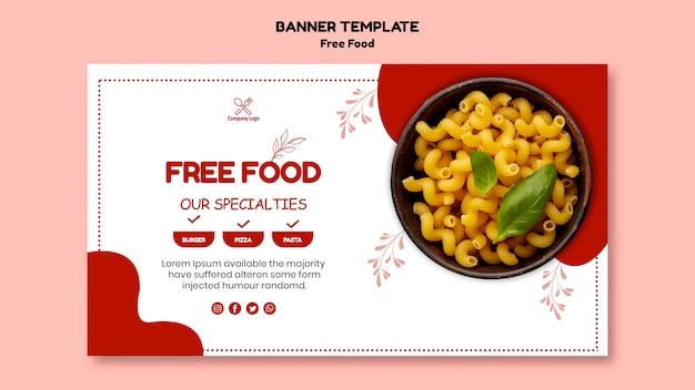 Концепция баннера бесплатной еды Бесплатные Psd