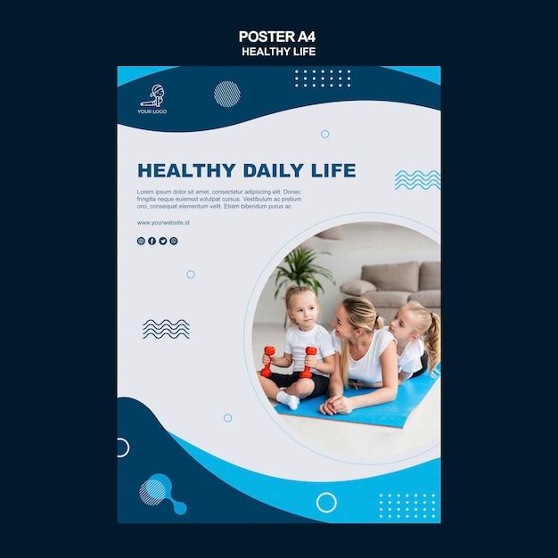 Здоровый образ жизни концепция флаера Бесплатные Psd