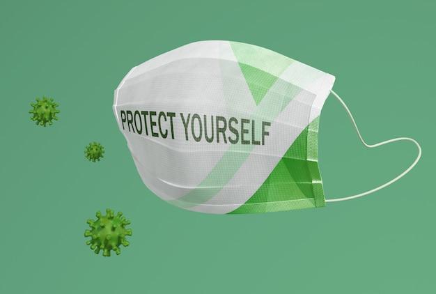 Защити себя текстом на маске Бесплатные Psd