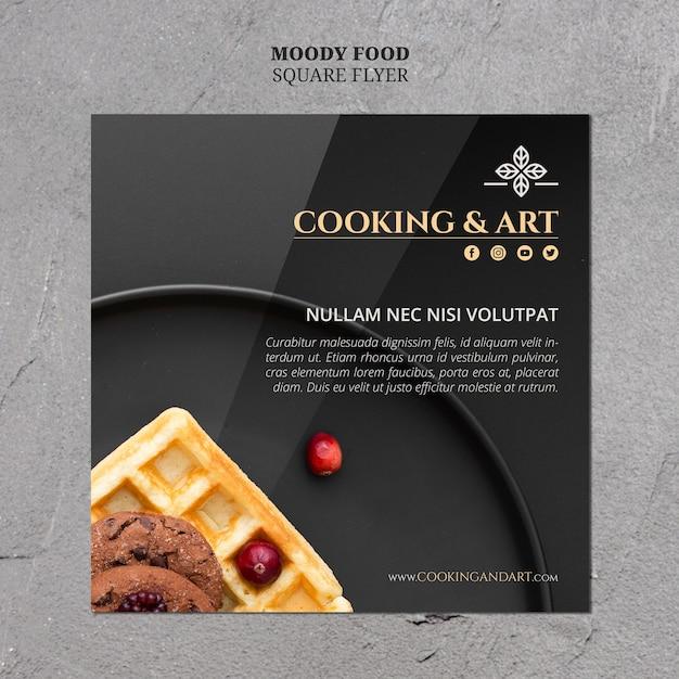料理とアートのチラシテンプレート 無料 Psd