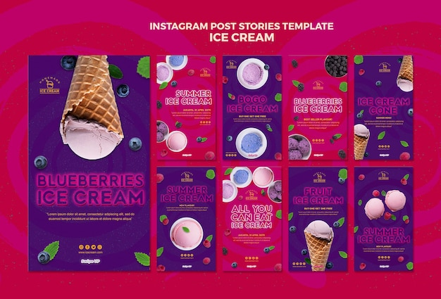 Рассказы о мороженом Бесплатные Psd