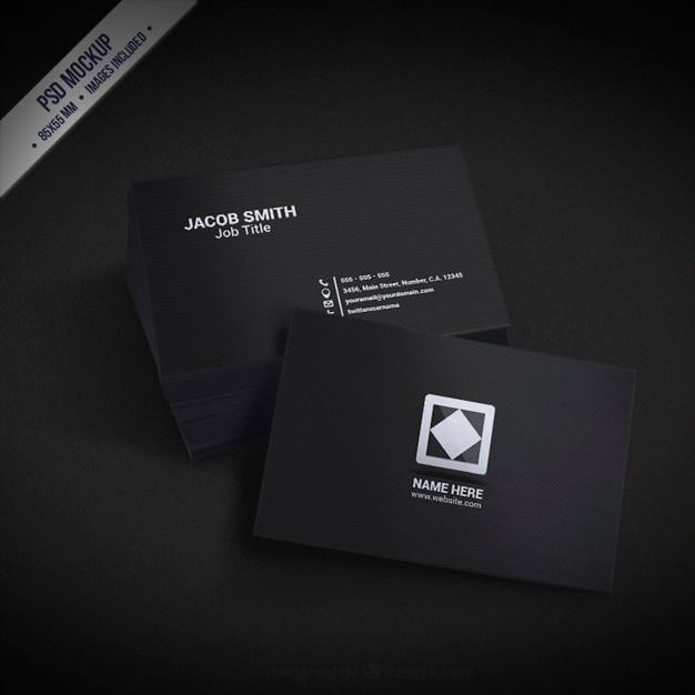 ダークビジネス環境カードのモックアップ 無料 Psd