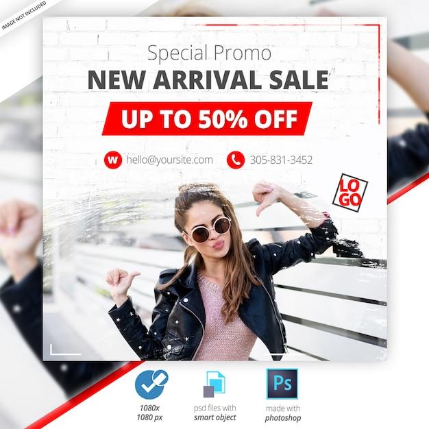 Специальное предложение продажа веб социальные медиа баннер Premium Psd