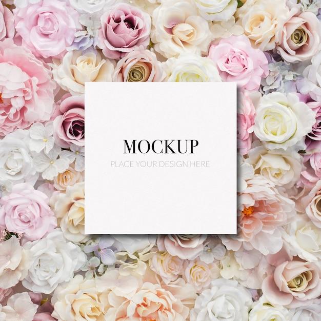 花のテンプレートモックアップフレーム 無料 Psd