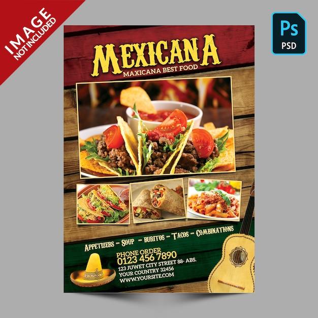 メキシカーナフードプロモーション Premium Psd