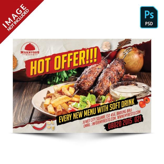 Горячее предложение специальное продвижение еды Premium Psd