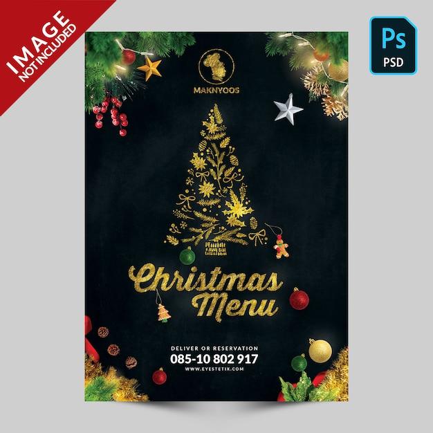 スペシャルクリスマスブックメニューのジャケット写真 Premium Psd
