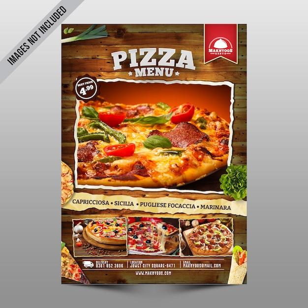 Листовка с пиццей Premium Psd