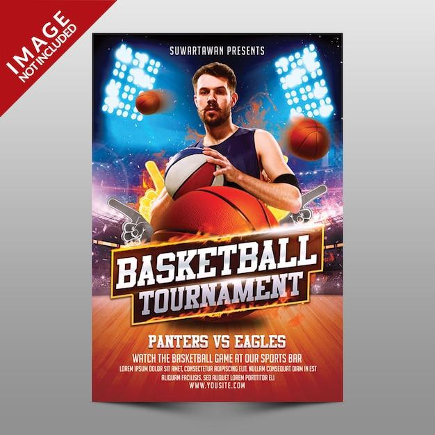 バスケットボールトーナメント Premium Psd