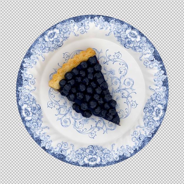 Черничный пирог Premium Psd