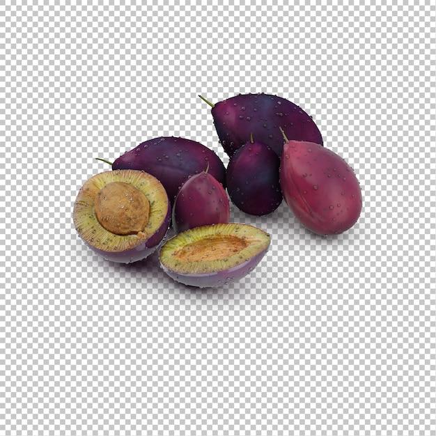等尺度の果物 Premium Psd