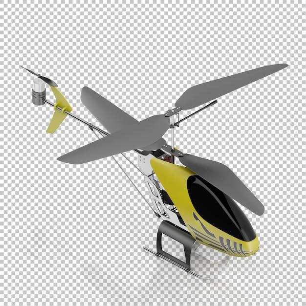 アイソメ子供ヘリコプター Premium Psd