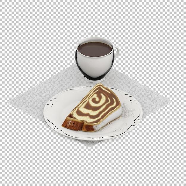 アイソメの朝食 Premium Psd