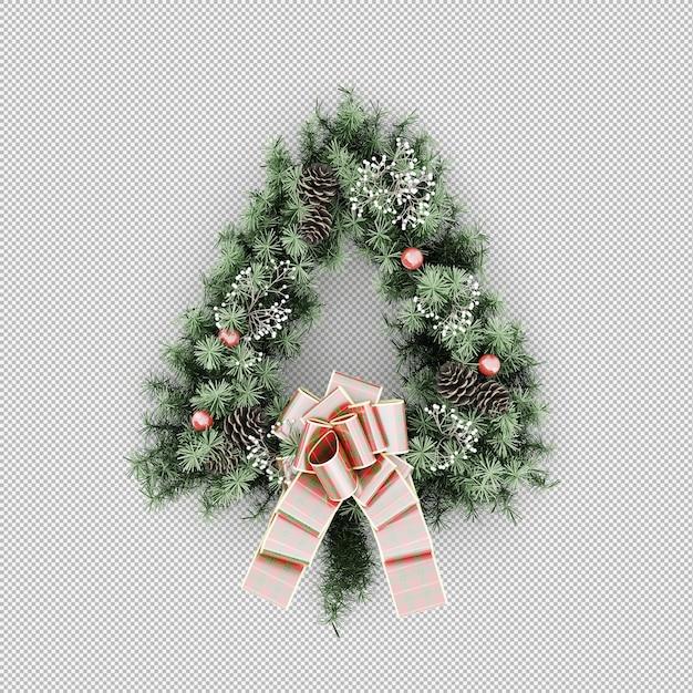 Рождественский венок Premium Psd
