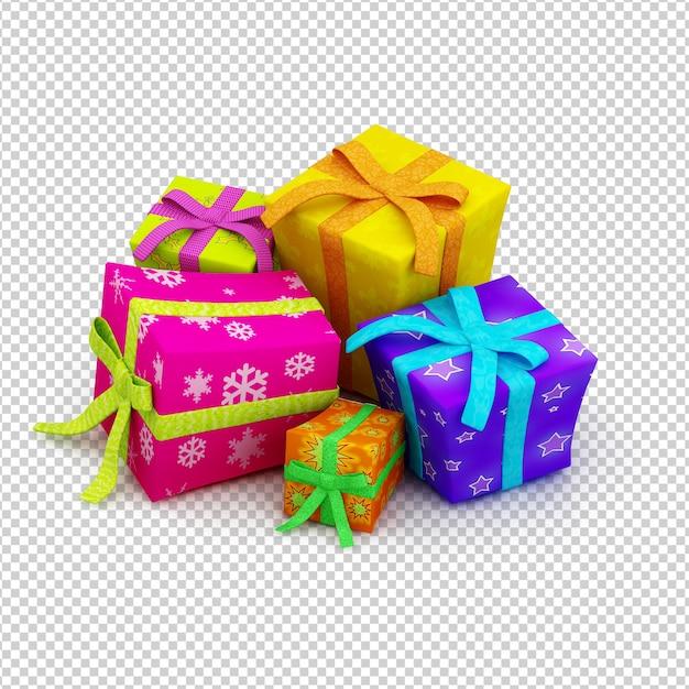クリスマスプレゼント Premium Psd