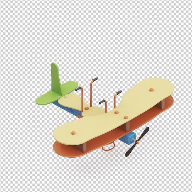 アイソメ子供用飛行機おもちゃ Premium Psd