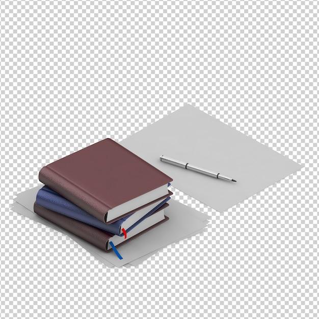 Изометрические книги Premium Psd
