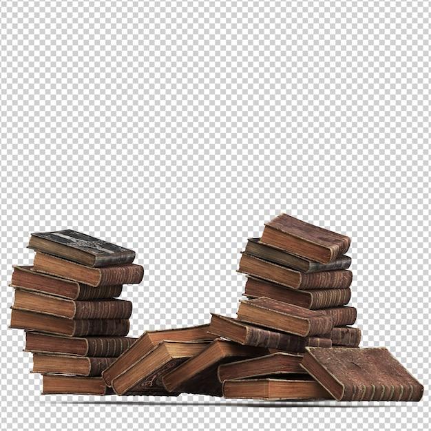 Изометрические старинные книги Premium Psd