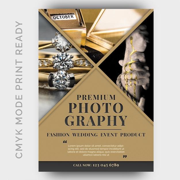 写真スタジオフライヤーデザインテンプレート Premium Psd