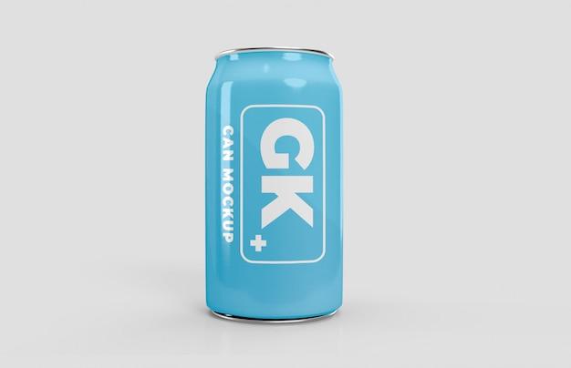 アルミ缶モックアップビールまたはソーダパック Premium Psd