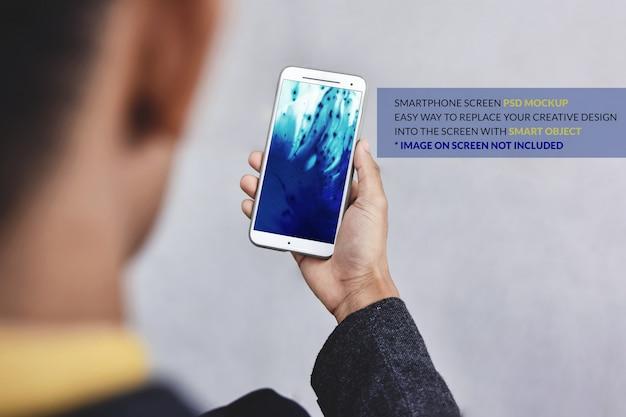 Смартфон макет изображение. шаблон мобильного экрана Premium Psd