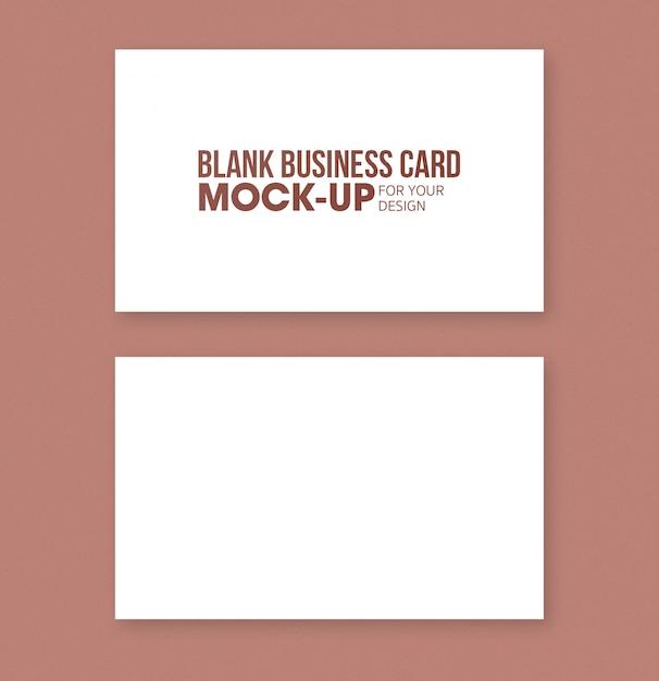 空白の名刺と名前カードのモックアップテンプレート Premium Psd