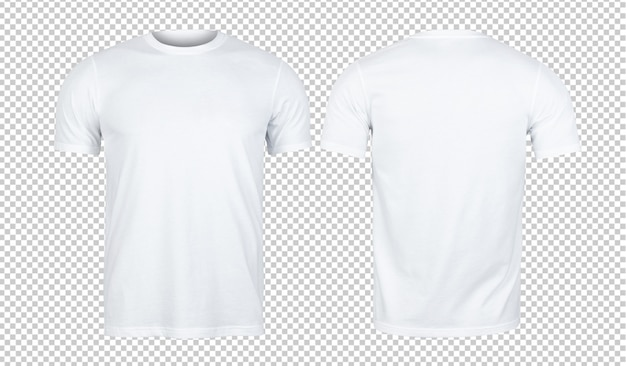 Белые футболки макет спереди и сзади Premium Psd