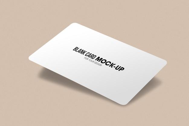 Макет пустой бизнес или имя карты. Premium Psd
