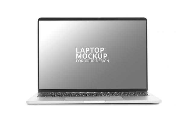 ノートパソコンのデジタル機器のモックアップデザイン。 Premium Psd