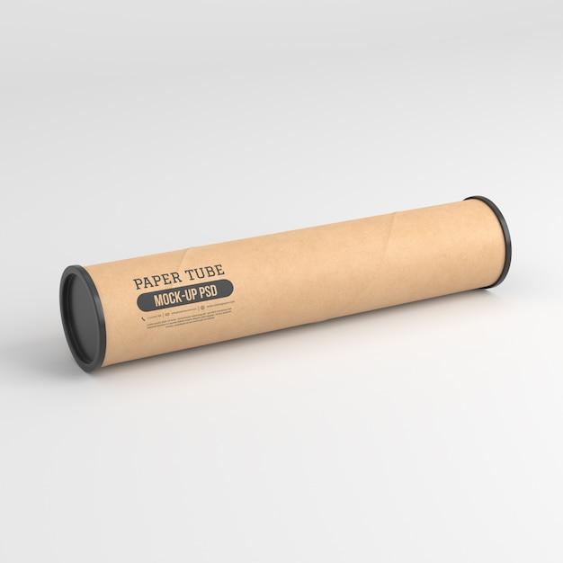 Макет из бумажной трубки Premium Psd