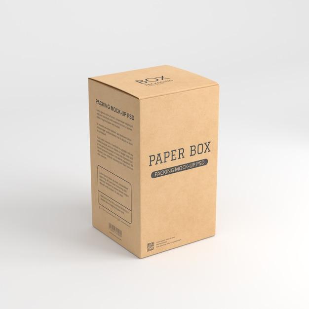 紙箱のモックアップ Premium Psd