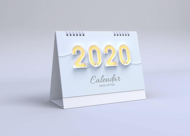 Горизонтальный календарь макет Premium Psd
