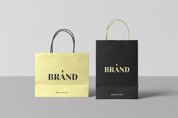 紙の買い物袋のモックアップ Premium Psd