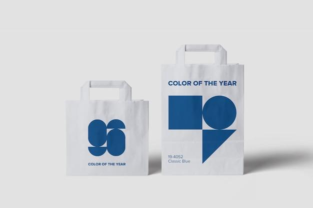 サイズの異なる買い物袋のモックアップ Premium Psd