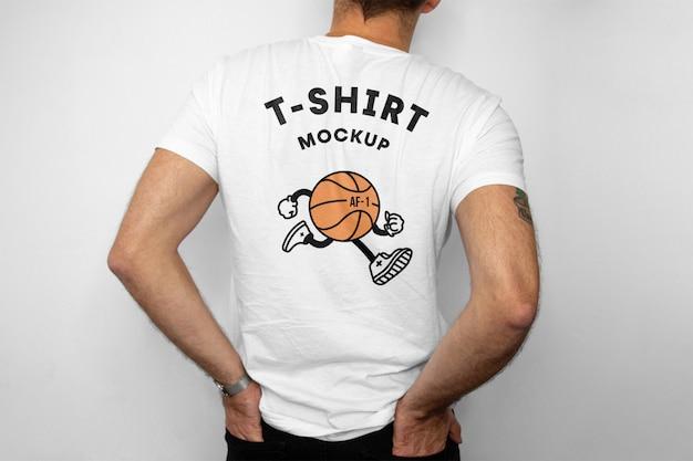 Макет спинки футболки Premium Psd