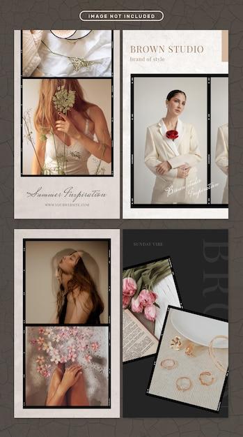 ファッションと美容をテーマにしたソーシャルメディアストーリー Premium Psd