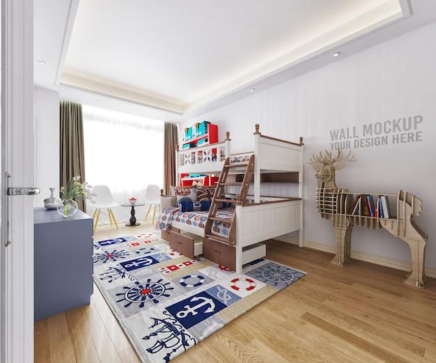 Интерьер детской спальни с отделкой Premium Psd