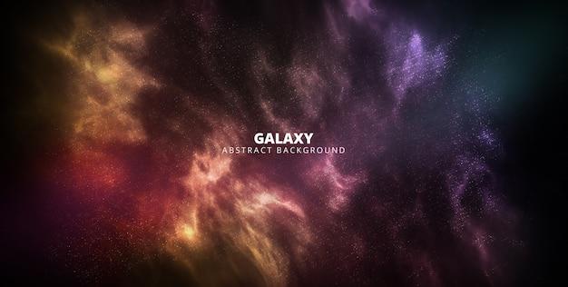 バナー銀河の抽象的な背景 無料 Psd