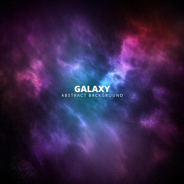 正方形の紫とピンクの銀河の抽象的な背景 無料 Psd