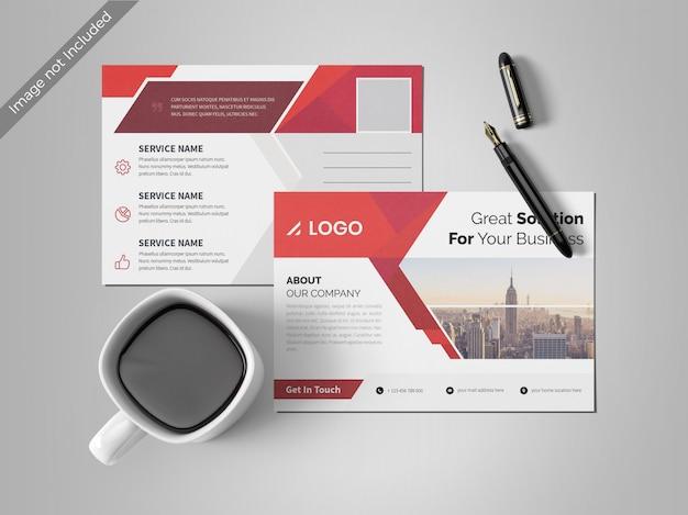 抽象的なポストカードのデザインテンプレート Premium Psd