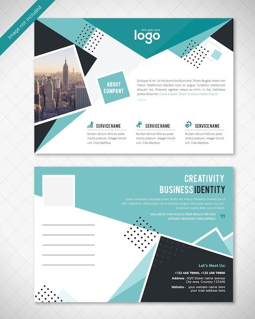 抽象的なポストカードデザイン Premium Psd