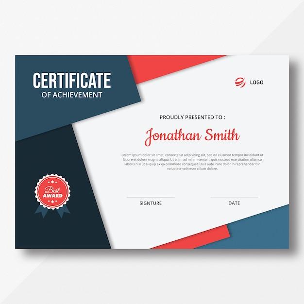 Шаблон сертификата Premium Psd