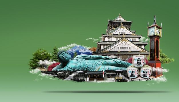 旅行日本ライジングサンの国 Premium Psd