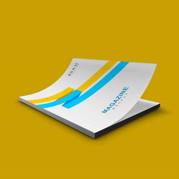 Хороший и чистый простой макет обложки журнала Premium Psd
