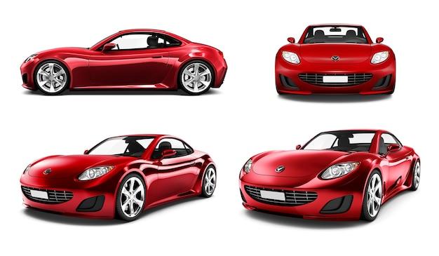 Трехмерное изображение автомобиля Premium Psd