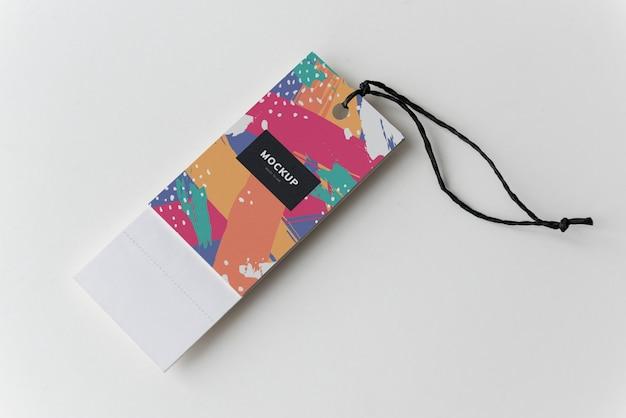 カラフルなブックマークタグモックアップデザイン 無料 Psd