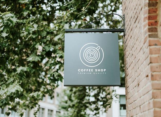 コーヒーショッププレミアム品質のボードモックアップ 無料 Psd