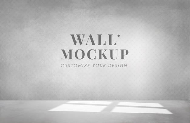 灰色の壁のモックアップと空の部屋 無料 Psd